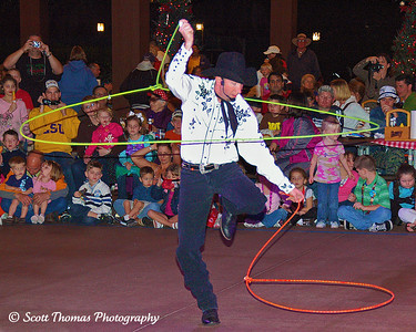 Some trick roping during Mickey's Backyard BBQ at the Fort Wilderness Resort, Walt Disney World, Orlando, Florida