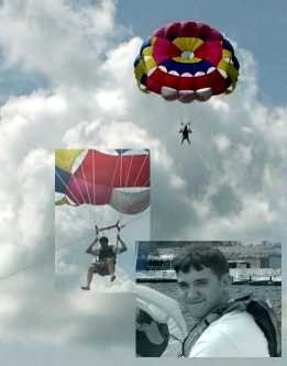 Parasailing collage. Copyright© Sherry Snider 2006